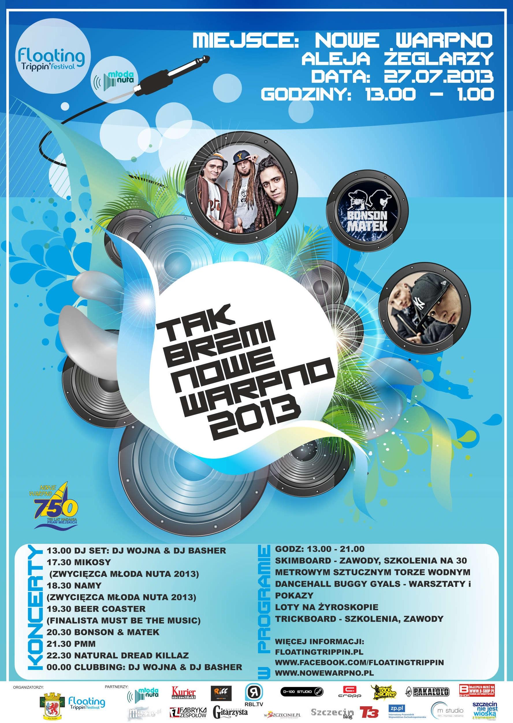 plakat - Tak Brzmi Nowe Warpno 2013 jpg